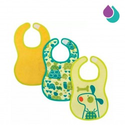 CHICCO EASY MEAL BIB 6+ MONTHS (3PCS) GREEN