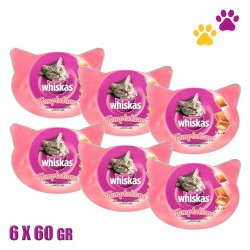 WHISKAS TEMPTATIONS WITH SEAFOOD 6X60GR