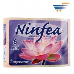 NINFEA TOILET PAPER (6 ROLLS-ORANGE)
