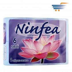 NINFEA TOILET PAPER (6 ROLLS-BLUE)