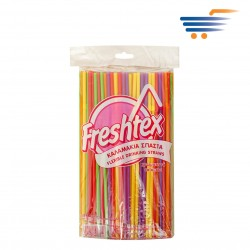 FRESHTEX - FLEXIBLE COLOURFUL DRINKING STRAWS (250 PCS)