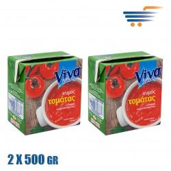 VIVA FRESH TOMATO JUICE 2X500GR