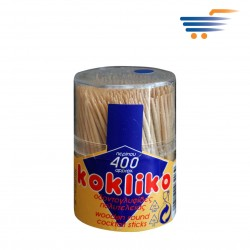 KOKLIKO WOODEN ROUND COCTAIL STICKS (APPROX 400PCS)