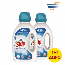 SKIP ACTIVE CLEAN WASHING GEL 2X1.5L (60 WASHES)