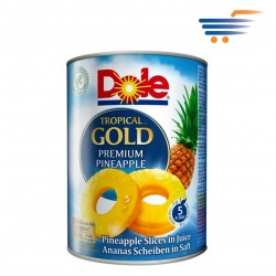 DOLE CANNED PINEAPPLE SLICES IN JUICE 567GR