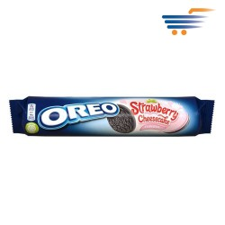 OREO COOKIES, STRAWBERRY AND CHEESECAKE FLAVOUR 154G