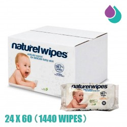 NATUREL BABY WIPES 98.7% WATER (24X60 WIPES)