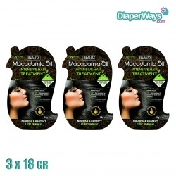 MACADAMIA OIL INTENSIVE HAIR TREATMENT 3X18GR