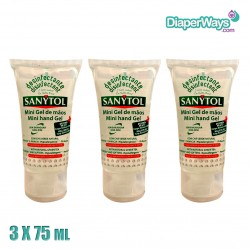 SANYTOL MINI HAND DISINFECTION GEL 6X75ML