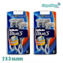 BLUE 3 DISPOSABLE RAZOR 2X3 RAZORS