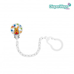 NUK SOOTHER CHAIN DISNEY WINNIE THE POOH (WHITE)