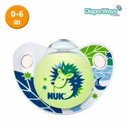 NUK NIGHT AND DAY SILICONE SOOTHER 0-6 MONTHS (BLUE)