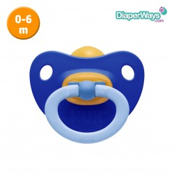 NUK SOFT LATEX SOOTHER 0-6 MONTHS (BLUE)