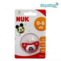 NUK TRENDLINE SILICONE SOOTHER 0-6 MONTHS (MINNIE MOUSE)