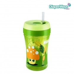 NUK EASY LEARNING CUP FUN 300ML WITH STRAW (GREEN)