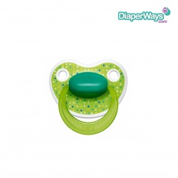 BIBI HAPPINESS SOOTHER 6-16 MONTHS WITH DENTAL SILICONE TEAT (GREEN CONFETTI)