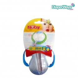 NUBY TRAINING CUP WITH DETACHABLE HANDLES 210ML - 4+ MONTHS (BLUE)