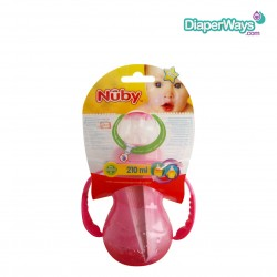NUBY TRAINING CUP WITH DETACHABLE HANDLES 210ML - 4+ MONTHS (PINK)