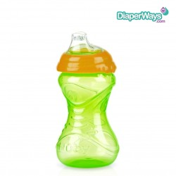 NUBY EASY GRIP CUP NO SPILL 300ML (ORANGE AND GREEN)