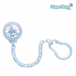 NUK BABY ROSE AND BLUE SOOTHER CHAIN (BLUE)