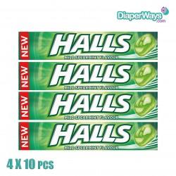 HALLS MILD SPEARMINT FLAVOUR 4X10PCS