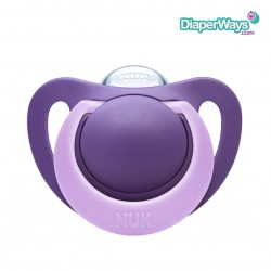 NUK GENIUS COLOR SILICONE SOOTHER 6-18 MONTHS (PURPLE)
