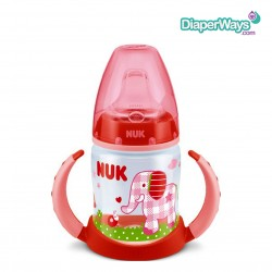 NUK FIRST CHOICE 150ML LEARNER CUP 6-18 MONTHS (RED LITTLE ELEPHANT)