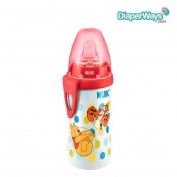 NUK WINNIE THE POOH ACTIVE CUP WITH SILICONE SPOUT 300ML 12+ MONTHS (RED)