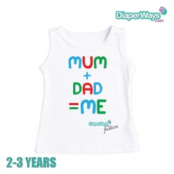 DIAPERWAYS FASHION T-SHIRT 2-3 YEARS (MAM AND DAD_FOR BOY)
