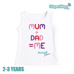 DIAPERWAYS FASHION T-SHIRT 2-3 YEARS (MAM AND DAD_FOR GIRL)