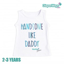 DIAPERWAYS FASHION T-SHIRT 2-3 YEARS (HANDSOME LIKE DADDY_FOR BOY)