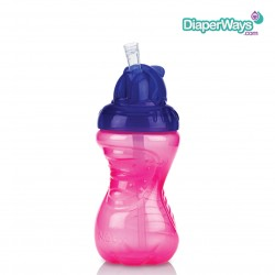 NUBY FLIP-IT CUP WITH STRAW  12+ MONTHS  300ML  (PURPLE AND PINK)