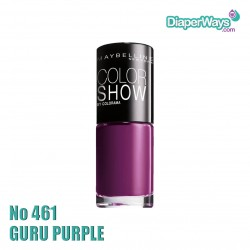 MAYBELLINE COLOR SHOW NAIL POLISH 7ML (No461 GURU PURPLE)