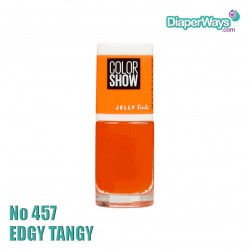 MAYBELLINE COLOR SHOW NAIL POLISH 7ML (No457 EDGY TANGY)