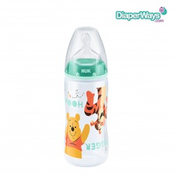 NUK FIRST CHOICE DISNEY BOTTLE NIPPLE SILICONE (ORANGE) 300ML 0-6 MONTHS