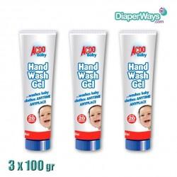 ACDO BABY HAND WASH GEL 3X100ML