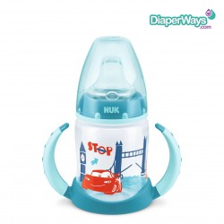 NUK DISNEY PIXAR CARS FIRST CHOICE LEARNER BOTTLE WITH  SPOUT 6-18 MONTHS 150ML (TURQUOISE)