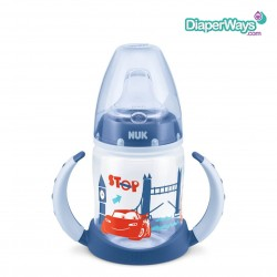 NUK DISNEY PIXAR CARS FIRST CHOICE LEARNER BOTTLE WITH SPOUT 6-18 MONTHS 150ML (BLUE)