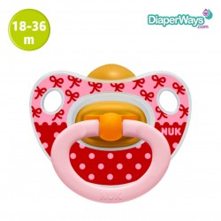 NUK HAPPY KIDS LATEX SOOTHER 18-36 MONTHS (PINK)