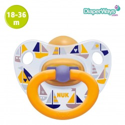 NUK HAPPY KIDS LATEX SOOTHER 18-36 MONTHS (LITTLE BOATS)