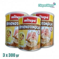 MILUPA BISQUIT CREAM 3X300GR