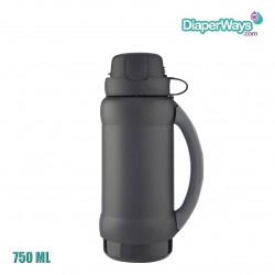 GENUINE THERMOS BRAND VACUUM INSULATED GLASS DOUBLE WALL BEVERAGE BOTTLE 750ML (BLACK)