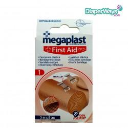 MEGAPLAST FIRST AID ELASTIC BANDAGE (5M X 8CM)