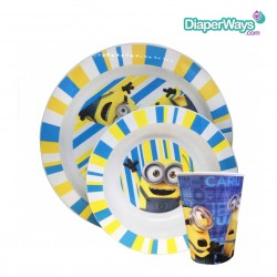 MINIONS MICROWAVE OVEN DISH - BOWL - GLASS 3PCS
