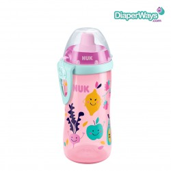 NUK FLEXI CUP WITH STRAW 300ML 12+ MONTHS (PINK FRUITS)