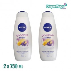 NIVEA SHOWER GEL GOODBYE STRESS 2X750ML