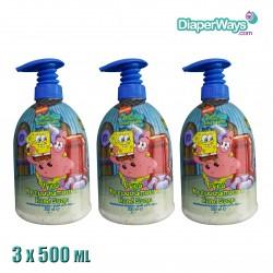 SPONGEBOB HAND SOAP 3X500ML
