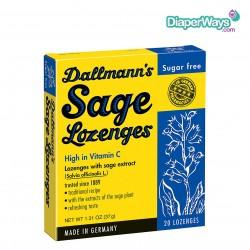 DALLMANN'S SAGE LOZENGES SUGAR FREE -20 LOZENGES (BLUE)