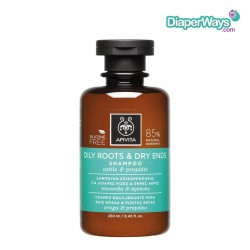APIVITA OILY ROOTS AND DRY ENDS SHAMPOO WITH NETTLE AND PROPOLIS 250ML