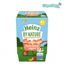 HEINZ BY NATURE FRUITY PEACH YOGURT  4+ MONTHS  2X100GR